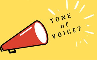 Hoe moet dat nu met die tone of voice?
